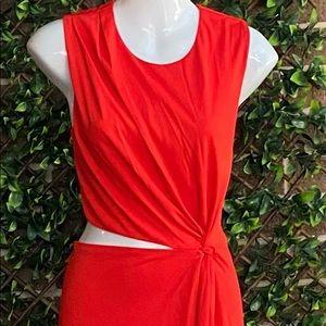 H&M Red Maxi Cut Out Cocktail Dress Eur 42 US 12